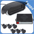 New Arrival Front & Rear Obstacle Distance Dual View Digital Display Car Parking System with 6 Ultrasonic Sensors