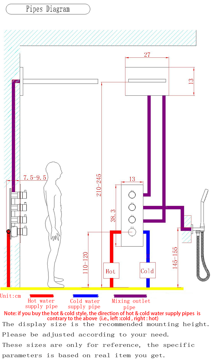 Dulabrahe Chrome Waterfall And Rain Bathroom Shower Faucet Valve Diagram 20 Inch Atomizing Head Easy Installation Embedded Box Thermostatic Sets 002t 20wmi F