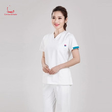 Korean version of surgical clothes nurses short sleeve brush hand suit antibacterial promotion