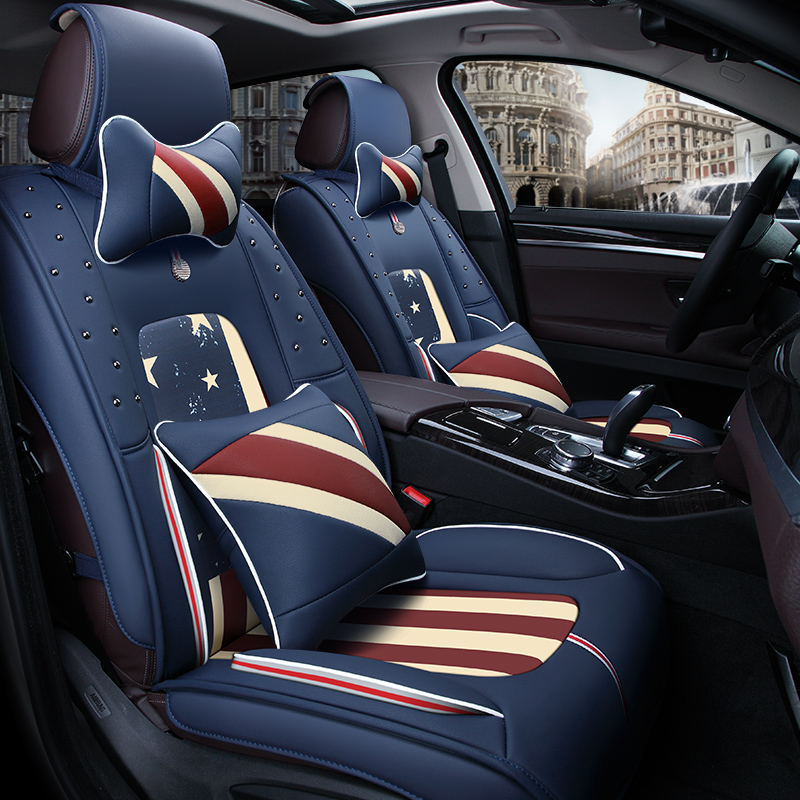 3D Car Seat Cover General Cushion High-Fiber Leather Car Styling For Skoda Octavia Superb Yeti Fabia spaceback Rapid