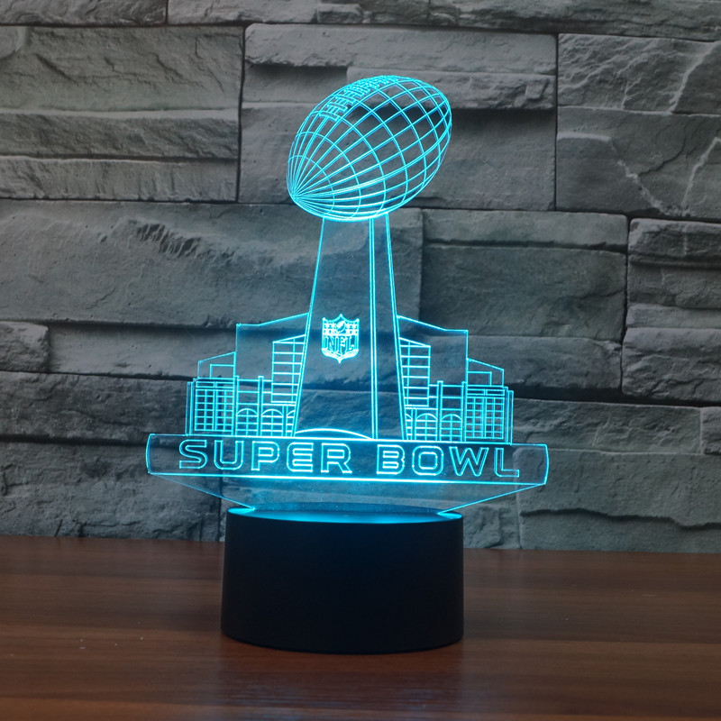 New Super Bowl 3D lights colorful touch LED visual light gift atmosphere table lamp