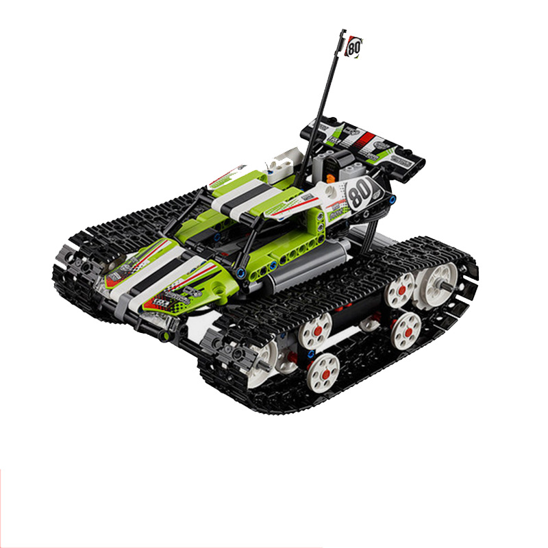 2017 New LEPIN 20033 397Pcs Technic Radio Controlled Tracked Racer Model Building Kits Blocks Bricks Toys Gift 42065 new lepin 22001 pirate ship imperial warships model building kits block briks toys gift 1717pcs