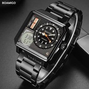 Image 1 - 2019 nowych moda BOAMIGO Top marka luksusowy męski zegarek 30m wodoodporny zegar z automatyczną datą męskie zegarki mężczyźni cyfrowy zegarek na co dzień