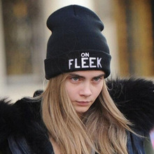 2016 Women's knitted hat ON FLEEK Unisex caps Bonnet Hats Casual beanies for men Autumn and Winter Warm cap B06FZ7 free sipping