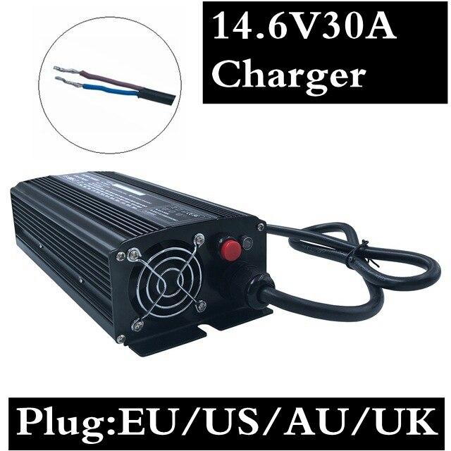672 W 30A chargeur rapide 672 W 14.6 V 30A LiFePO4 chargeur pour 4 série 12 V LiFePO4 batterie 14.4 V batterie chargeur intelligent livraison gratuite
