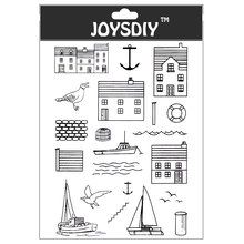 Scrapbook DIY photo cards account rubber stamp clear stamp transparent stamp Handmade card stamp ISLAND HOME BIRD SHIP ANCHOR mini clear stamp scrapbook diy photo cards rubber stamp seal stamp forever family transparent silicone transparent stamp