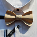 Individual wood Bow tie Cravat Handmade