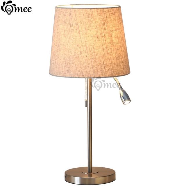 Modern table lamps lights bedroom read spot lamp body beige fabric modern table lamps lights bedroom read spot lamp body beige fabric lampshade new desk lampe ac aloadofball Choice Image
