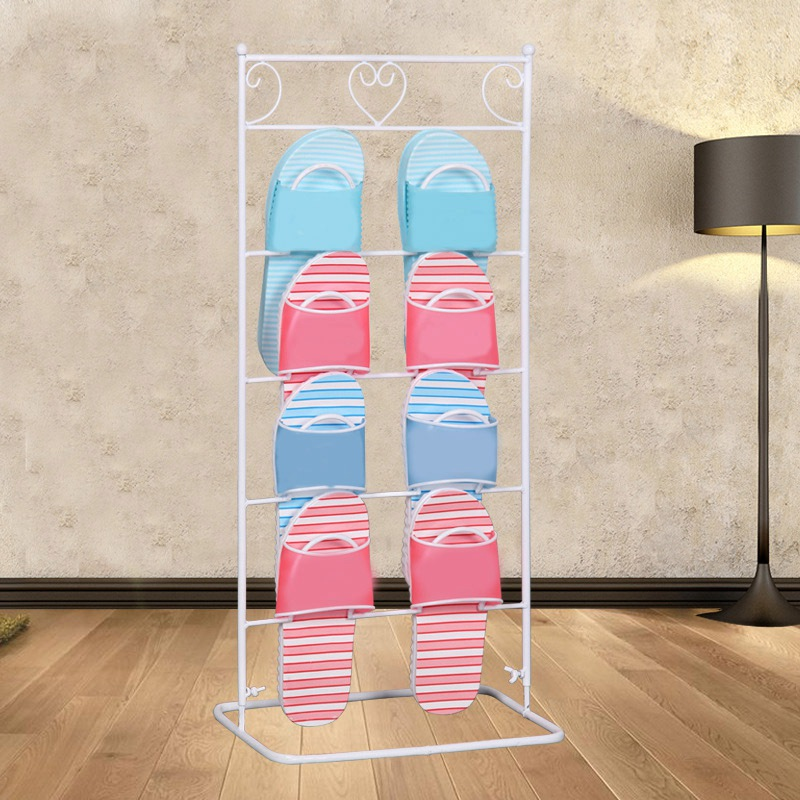 Hot Sale Creative Shoe Rack Organizer Multilayer Metal Simple Shoes Rack Storage Space Saving Shoes Shelf Stand Holder lovely multilayer storage rack mounted within eight color combination shoe up and down to save space