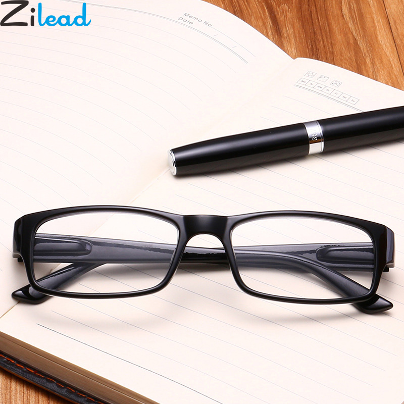Zilead Classic Black Frame Reading Glasses Women&Men Spring LegPresbyopic Eyewear1.0+1.25+1.5+1.75+2.0+2.25+2.5+2.75+3.0+3.5+4.0