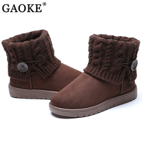 Women S Boots Woman Slip On Soft Women Snow Boot Round Toe Flat Winter Shoes Ankle