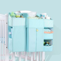 Portable Baby Crib Organizer Bed Hanging Bag For Baby Essentials Diaper Storage Cradle Bag Bedding Set Diaper Bag Storage Pocket