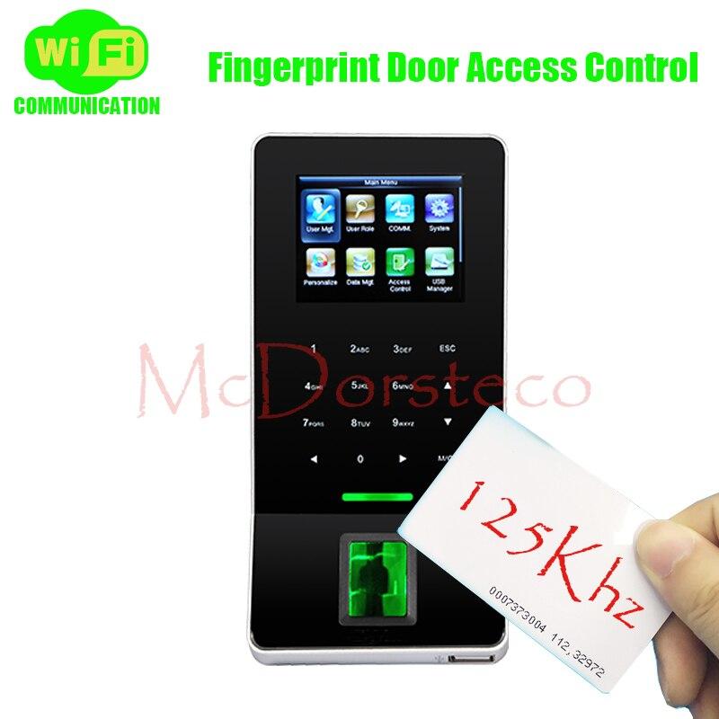 ZK F22 WiFi système de contrôle d'accès par empreinte digitale tcp/ip biométrique d'empreintes digitales et Rfid carte porte contrôleur de sécurité Wiegand in & out