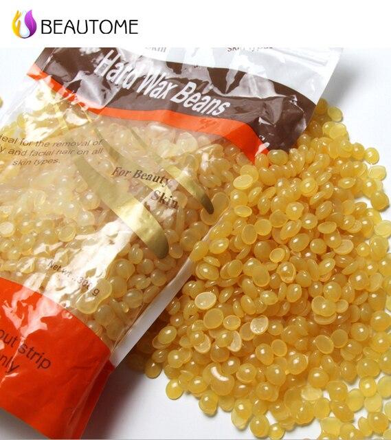 2016 Hot Sell  Depilatory Hot Film Hard Wax beans Pellet Waxing Bikini Hair Removal wax 300g Honey Taste .!