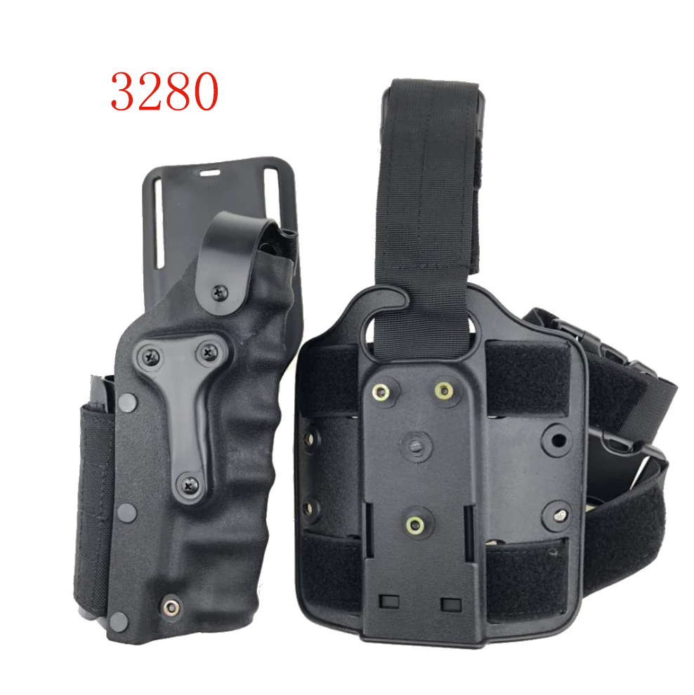 Military Adjustable Tactical Gun Holster Set W/ Leg Platform Right Left Hand Drop Leg Holster For Glock17/ 1911/ M9/p226 Sa-3280