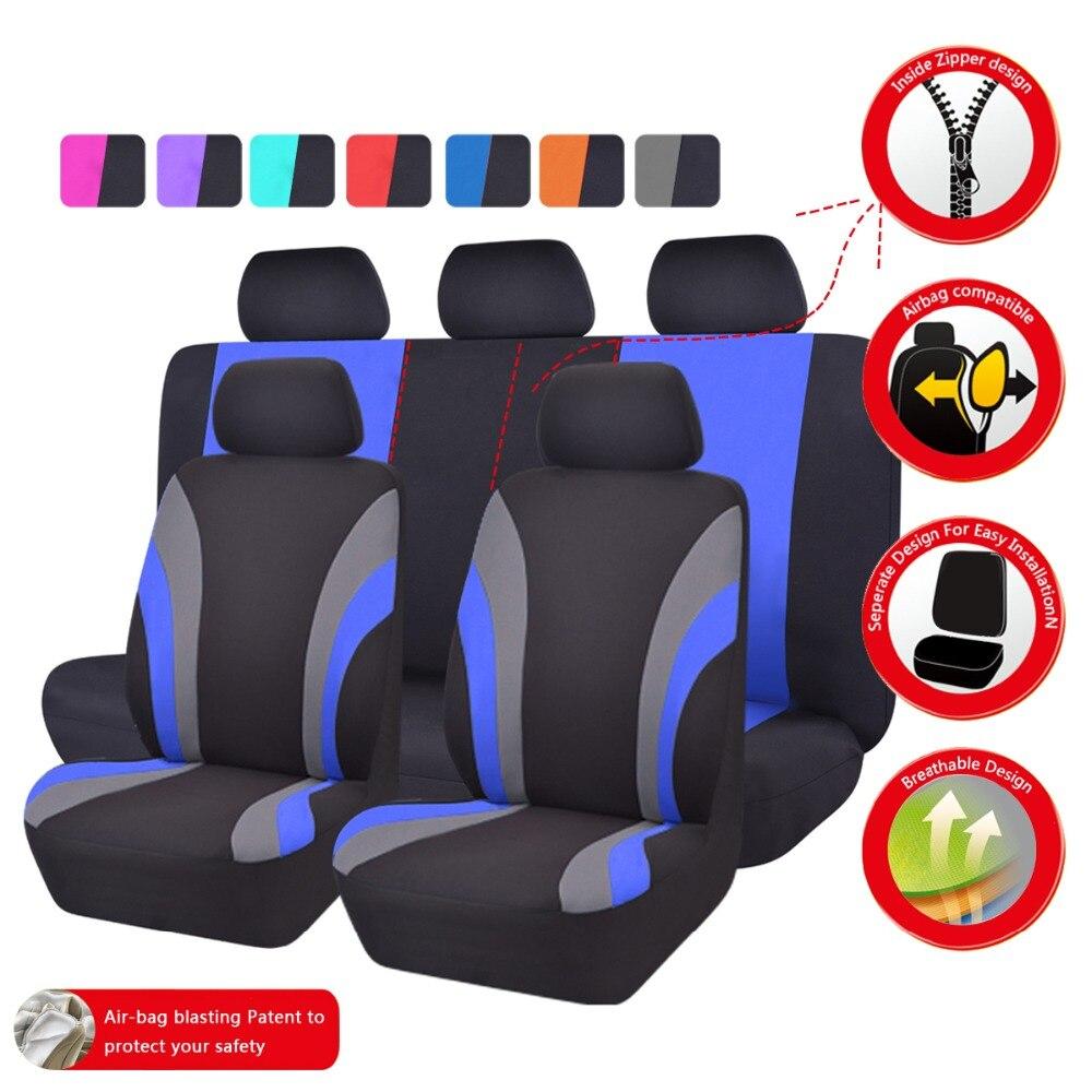Car-pass Uus värvikas spordi seeria autode istmekatete universaalne - Auto salongi tarvikud - Foto 6