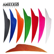 50/100pcs 4inch Turkey Feather Arrow Feathers Right Wing Fletches For Carbon Fiberglass Shooting Archery Accessories