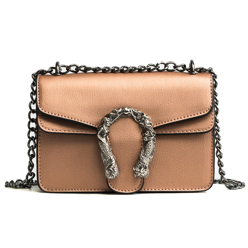 2018 Chains Women Shoulder Bags Small Black Fashion Women Bags Candlelight Leather Small Flap Bags Diagonal Lady Girls Handbags 4