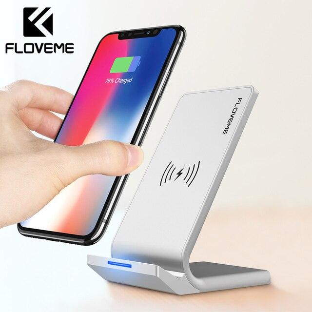 Floveme Универсальный Ци быстро Беспроводной Зарядное устройство для iPhone XS Max XR X 8 плюс Зарядное устройство USB  Вт Мощность зарядки для Samsung galaxy S8 S9 Plus Примечание 8 зарядное устройство для телефона