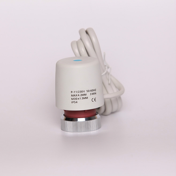 Electric Actuator for Manifold in Under flooring Heating System 230V Normally Closed for control radiator nitrogen transformation in vertisol under soybean wheat system