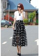 New Korean Style Fashion Women Summer Suit Elegant Slim Long Skirt Suit Short sleeves High quality Ladies Dot Printed Suit G1642