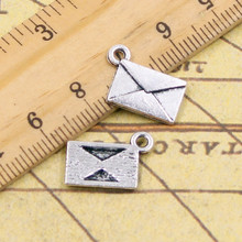 10pcs Charms letter envelope 15*11mm Tibetan Silver Plated Pendants Antique Jewelry Making DIY Handmade Craft(China)