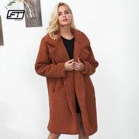 Fitaylor New Women Fur Coat Winter Fluffy Shaggy Faux Long Fur Coat Thick Warm Jacket Plus Size 3XL Outwear Pele