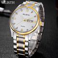 WLISTH Quartz Watches Men Top Luxury Brand Wrist Watches For Men Full Stainless Steel Male Quartz-Watch Relogio Masculino 2016