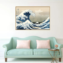 SELFLESSLY Wall Art Japanese Style Painting Kanagawa Surf Canvas Art Posters and Prints Painting Living Room Decorative Pictures(China)