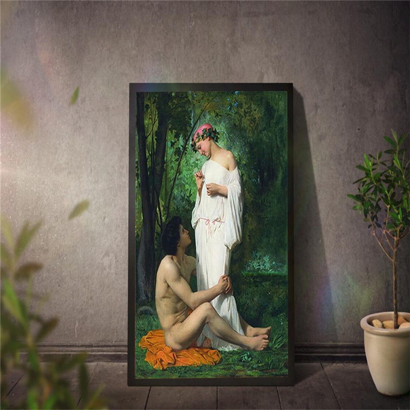 European classical figure oil painting style wallpaper decoration mural