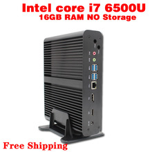 Mini pc core i7 6500u макс 3.1 ГГц 16 ГБ ram хранения micro pc htpc windows10, linux intel hd graphics 520 tv box usb 3.0