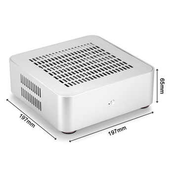 [Top Cover with Holes][USB 3.0 Version] RGeek Mini ITX Computer Case Aluminum PC Case Chassis HTPC With Power Supply