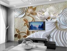 Free shopping 2015 New Rose vase lotus anaglyph 3 d TV wall paper wallpaper