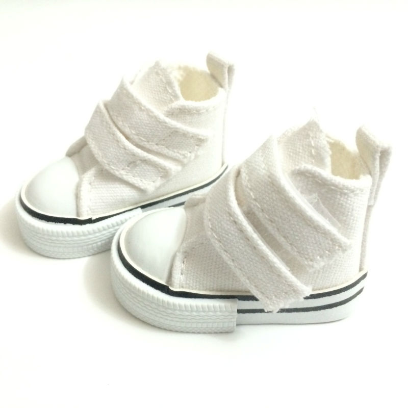 Fashion Causal Sneakers Shoes for Paola Reina Doll,6CM Canvas Shoes 1/3 BJD Doll Shoes for Dolls,Footwear Sports Shoes 12 Pair canvas shoes for paola reina doll fashion mini toy gym shoes for tilda 1 3 bjd doll footwear sports shoes for dolls accessories