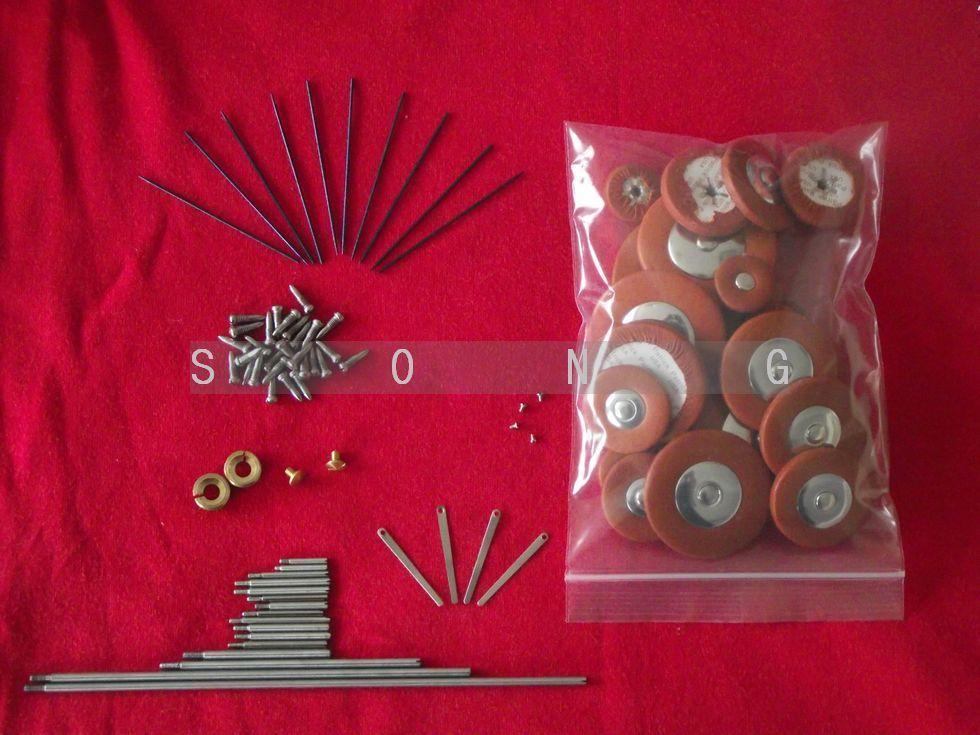 Alto saxophone repair parts Rollers screws Springs and 1 set Alto saxophone pads