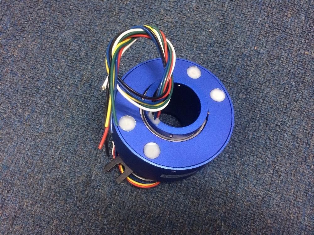 Hollow shaft slip ring hole Diameter 25.4mm 6 12 18 Channels 10A Slip Ring  86mm SRT025