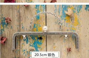 Image 2 - 20.5 Cm Metalen Frame Voor Portemonnees Meisje Zak Mond Gouden Sluiting Accessoires 3 Stks/partij