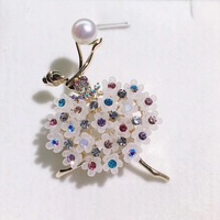 Natural Pearl Brooch Brooch Pin Scarf Buckle Brooch Ballet High End Clothing Manufacturers Selling 17101801