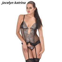 jocelyn katrina brand 2017 women's plus-size new lingerie sexy pajamas exotic adult lingerie tight hollow out bud silk nightgown