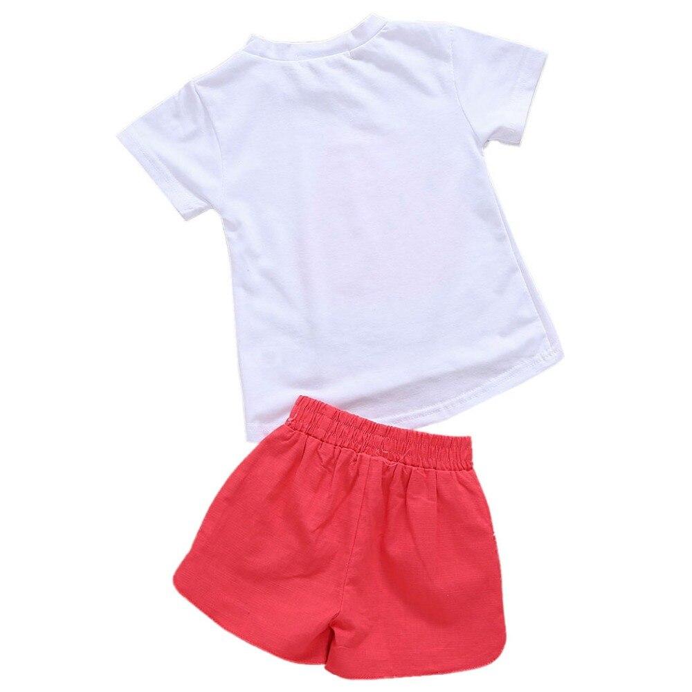 Enfant Bébé Fille Pastèque T-Shirt Short Pantalons Vêtements Outfit 2PCS Set