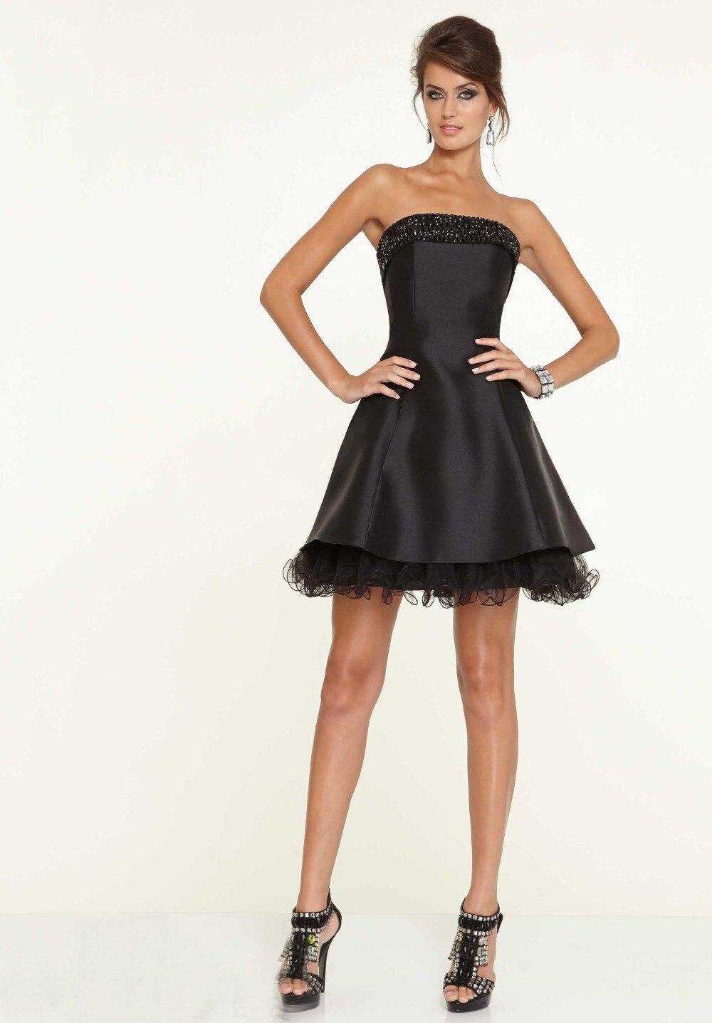 Платье без бретелек коктейльное