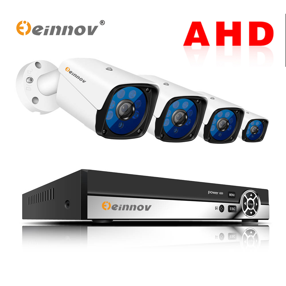 Einnov 4CH 2MP Outdoor Video Monitoring Surveillance Kit Security Camera CCTV System For Home DVR Camera AHD Night Vision HDEinnov 4CH 2MP Outdoor Video Monitoring Surveillance Kit Security Camera CCTV System For Home DVR Camera AHD Night Vision HD
