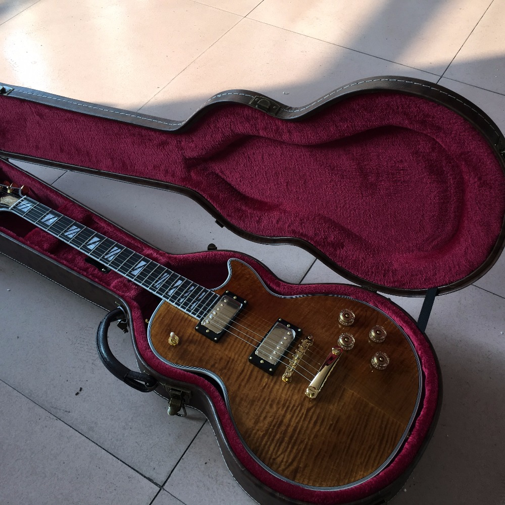 New arrival G custom shop 1959 R9 Tiger Flame les supreme Electric guitar,double tiger f ...