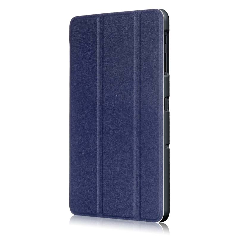 Case For Samsung Galaxy Tab S3 9.7 SM T820 T825 Ultra Slim Tri-Fold Custer Grain PU Leather Case Cover Auto Sleep Wake Up Shell