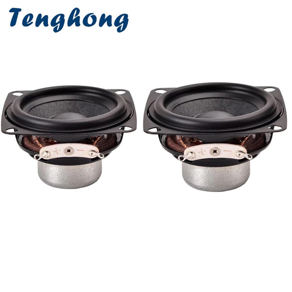 Tenghong 2pcs 52MM 4Ohm 10W Full Range Speaker 18 Core Portable Audio Speakers Repair Stereo Loudspeaker For Home Theater 2Inch