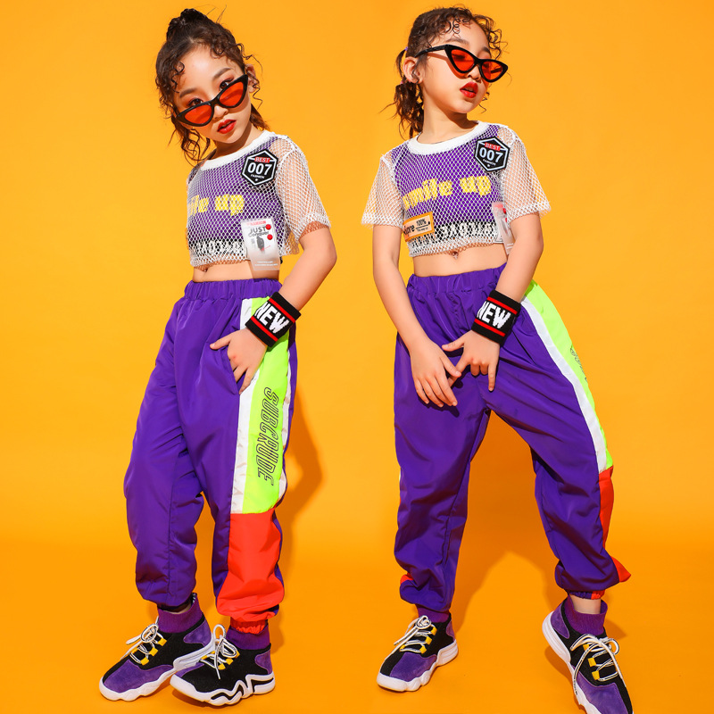 Kids Hip Hop Clothing Jazz Dance Clothes For Girls Boys Ballroom Dancing Costumes T Shirt Tops Jogger Pants Stage Wear Outfits