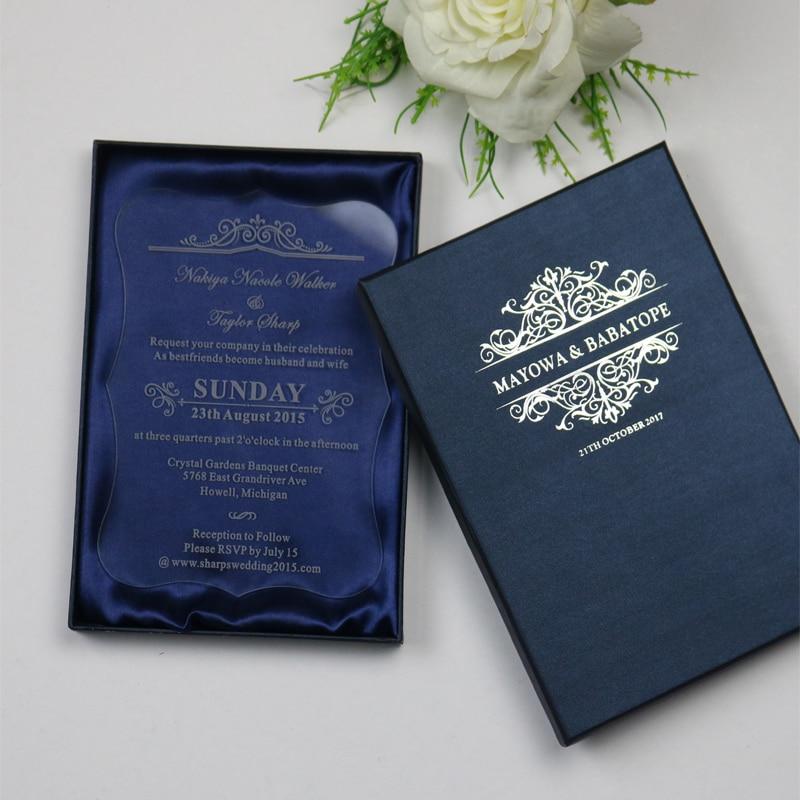 Personalized Luxury Customized Acrylic Wedding Invitation