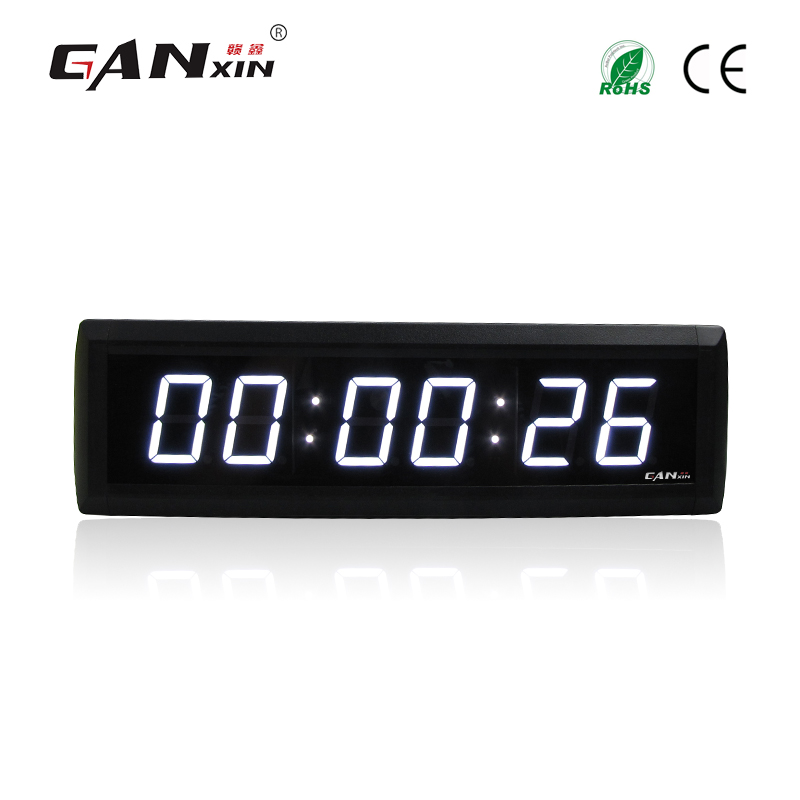GANXIN Free Shipping 1 8 6 digits Remote control LED Countdown wall Clock