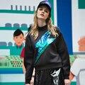 Mujeres camisetas de los Hoodies Glitter Fleeve Sudaderas Con Capucha Sudaderas Casual Pullover Lentejuelas Espacio Algodón de Las Mujeres Tapas de La Manera 72