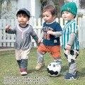 Tenue voetbal crianças Desportos de Lazer de Beisebol Roupa Infantil Manga Longa Romper Do Bebê Macacão Roupas de Futebol 80-90-95 atacado